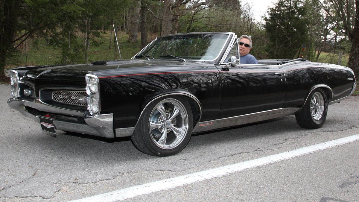1967 Pontiac GTO: In the mid-sixties, there was no cooler convertible muscle car than the GTO, with its big-block V8 and Hurst shifter.