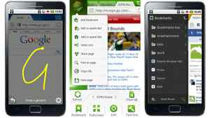 """Dolphin Browser Dolphin is a replacement browser for the simple built-in that comes with most Android tablets. The library of optional add-on features includes Dolphin Webzine, which reformats ugly web pages to make a more attractive, readable page, and Dolphin Gesture, which assigns shortcuts to your favourite sites or browser actions. For example, you can teach Dolphin to launch the Google home page when you draw a """"G"""" on the screen. Create your own gestures by drawing any symbol, then associate that gesture with an action. (free; www.dolphin-browser.com/)"""