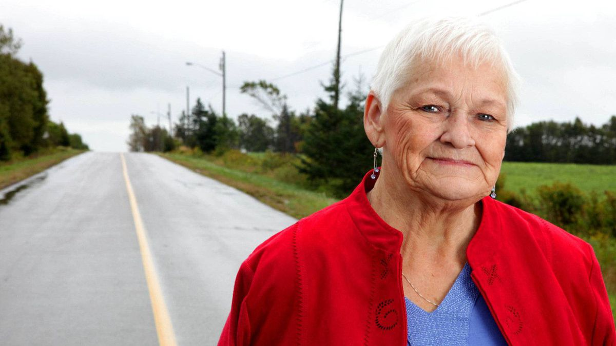 Betty Fox, mother of Terry Fox photographed this week in Prince Edward Island. Betty Fox has been on a marathon of her own, travelling and spreading the word that cancer research needs more money.