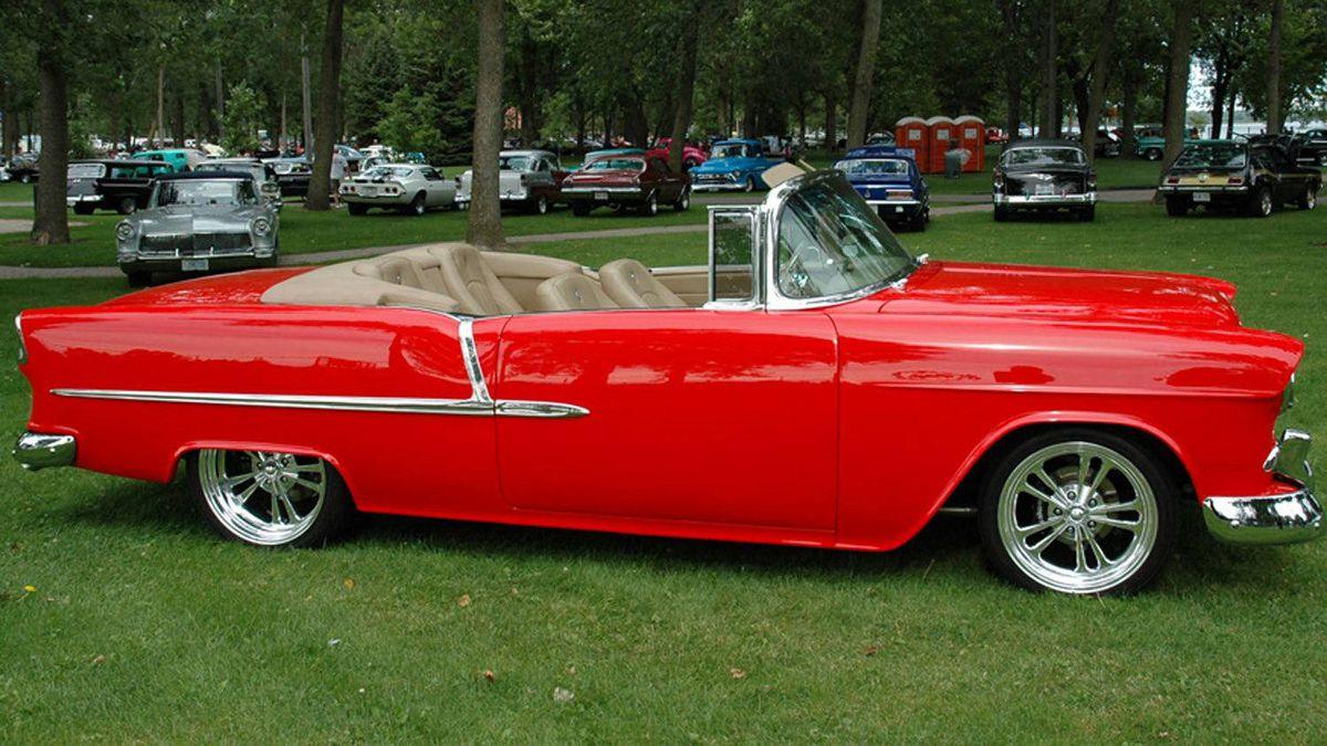 Viv Agresti's 1955 Chevrolet Belair Custom Convertible.
