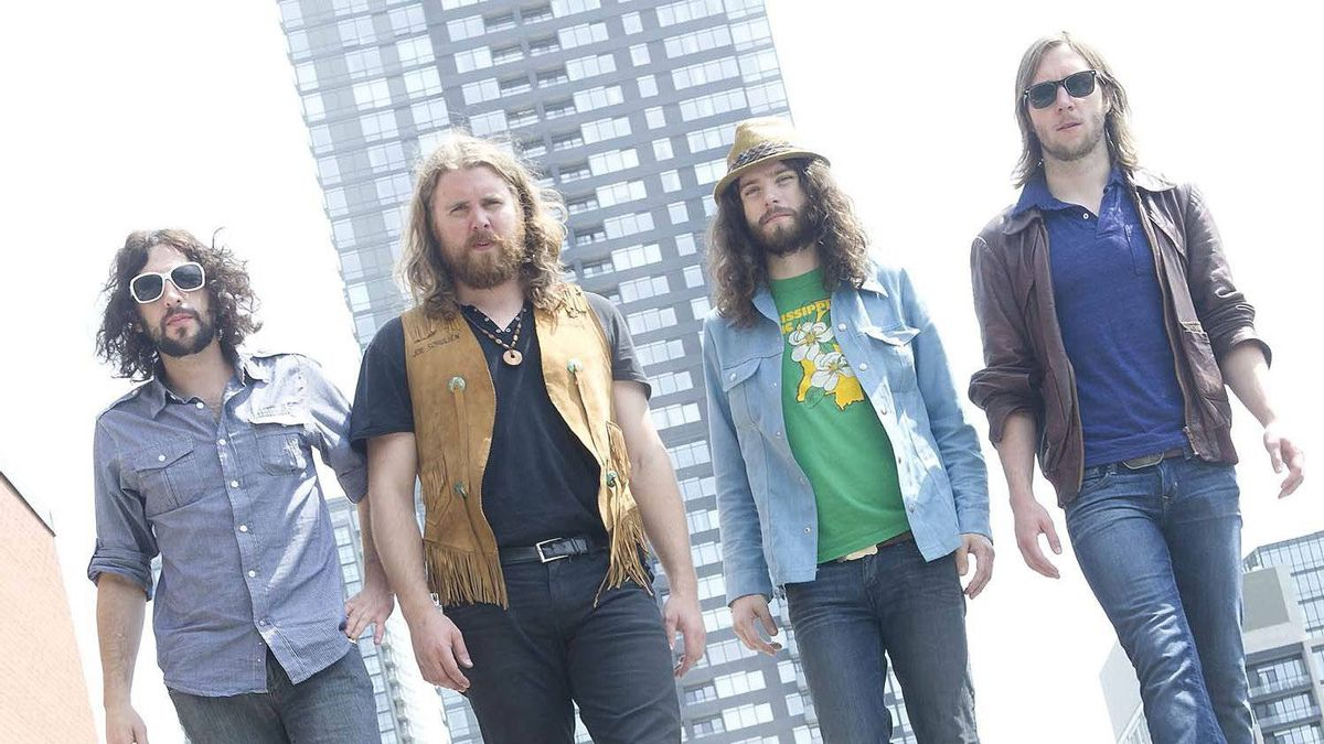 Members of Saskatoon based rock band Sheepdog are photographed in Toronto, Ont. June 20, 2011.