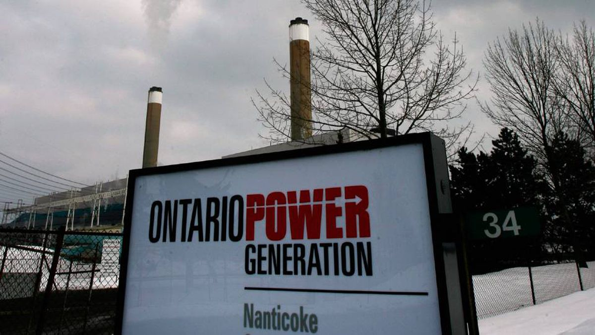 Vapor rises from stacks at the Coal-fired Nanticoke Generating Station, owned by Ontario Power Generation in Nanticoke, February 28, 2007.