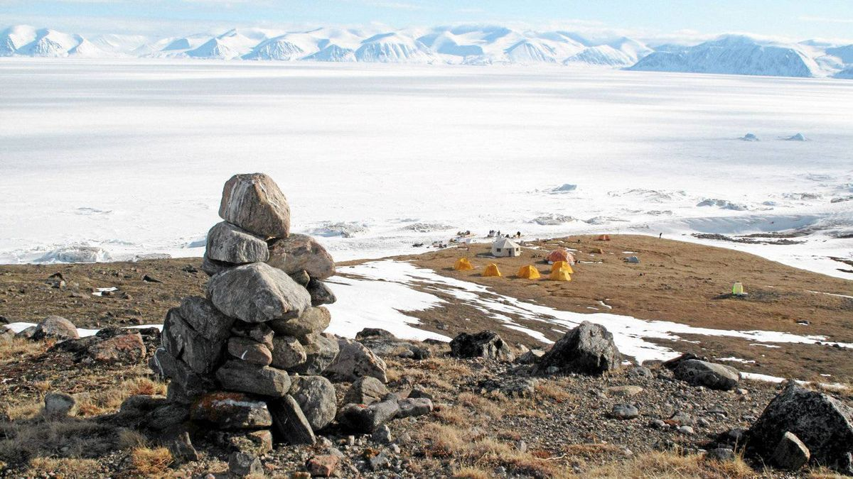 Reader Kent Nickerson took a six-day adventure to Sirmilik National Park. This is his base camp on the Bylot Island shore that looks south across Pond Inlet.