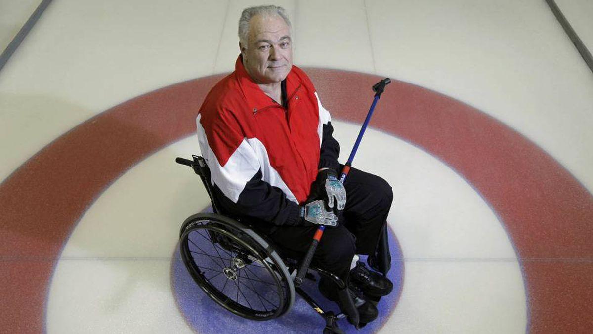 Jim Armstrong at the Richmond Curling Club in Richmond, B.C.