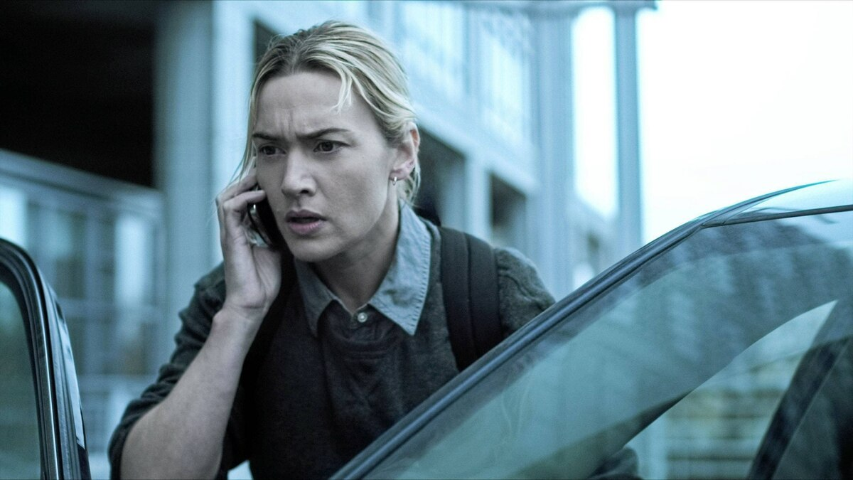 Kate Winslet is shown in a scene from the film Contagion.
