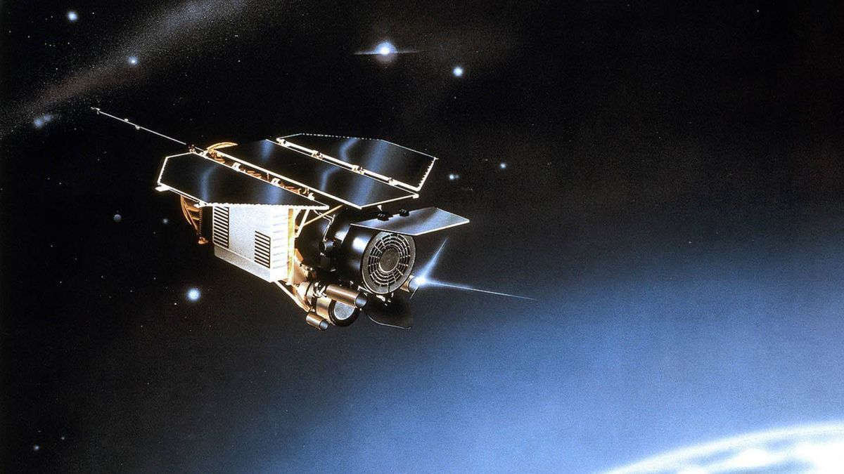 Undated artist rendering provided by EADS Astrium shows the scientific satellite ROSAT.