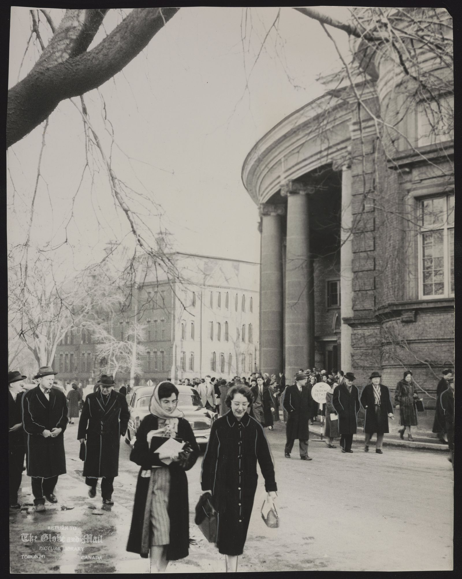 SIDNEY SMITH Politician. In Toronto, some of the 1,200 persons who attended a special service in memory of Dr. Smith leave Convocation Hall. at the University of Toronto.