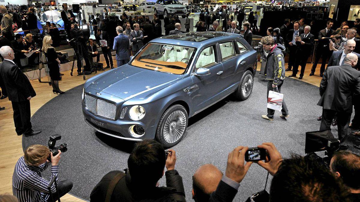 The new Bentley EXP 9F car.