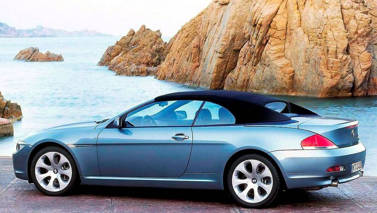 The 645Ci was available as either a hard-top coupe or soft-top convertible. BMW Credit: BMW