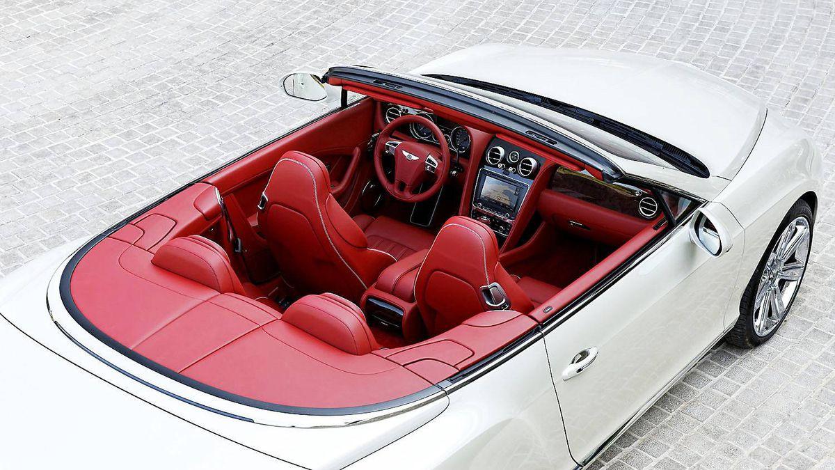 "2012 Bentleyt Continental GTC with a ""corn silk"" exterior."