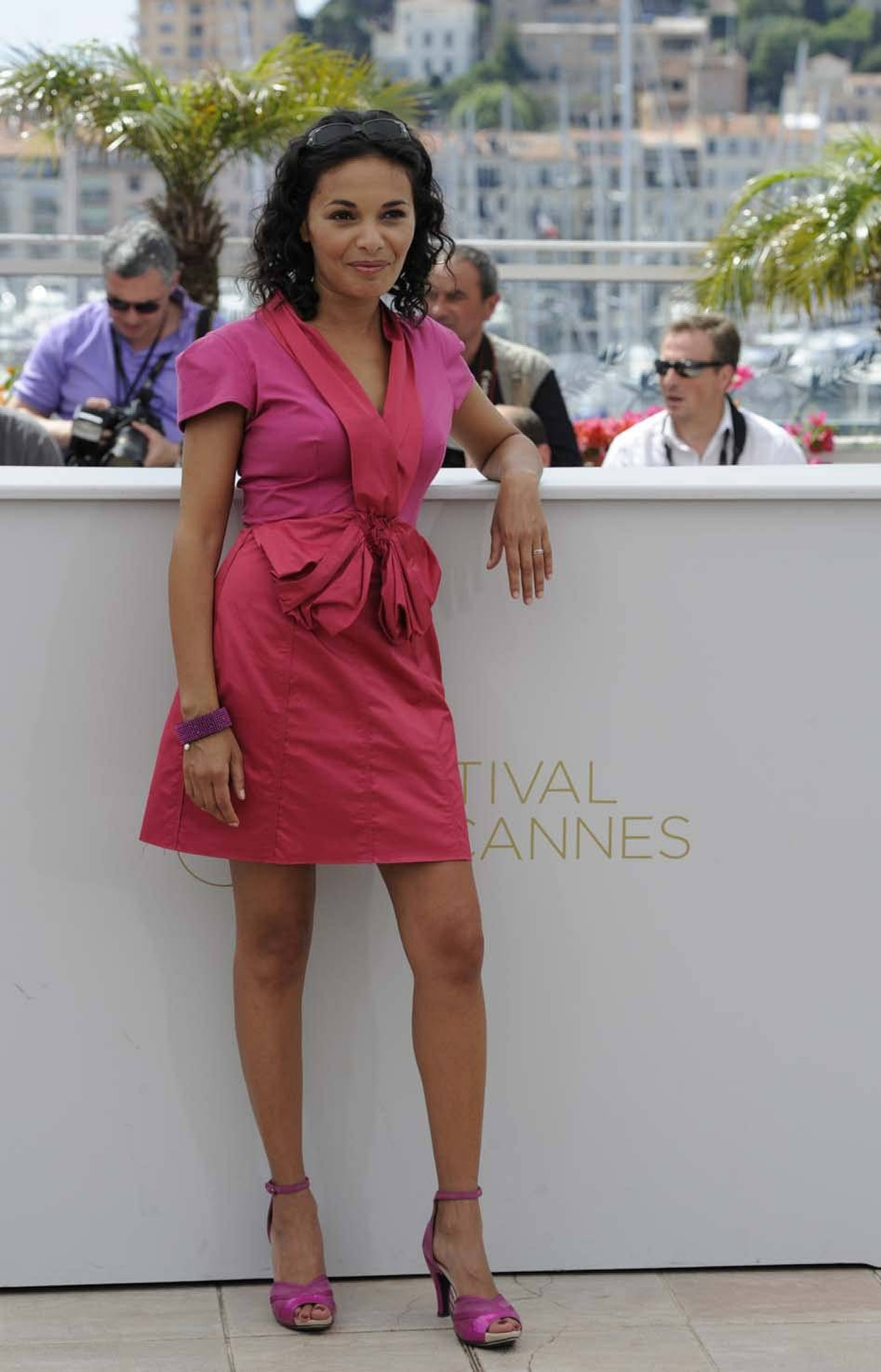 """French actress Saida Jawad at the photo call for """"La Conquete"""" at the Cannes Film Festival on Wednesday."""
