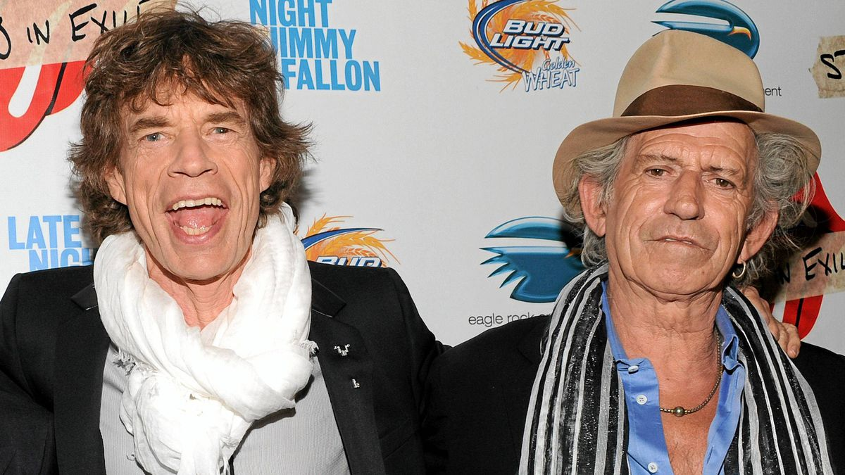 """In this May 11, 2010 file photo, musicians Mick Jagger, left, Keith Richards of The Rolling Stones attends a special screening of their new documentary """"Stones In Exile"""" at The Museum of Modern Art in New York. Richards says the Rolling Stones almost imploded because Mick Jagger thought he was """"bigger than the Stones."""" The pair's stormy relationship is described in Richards' memoir """"Life,"""" published next week."""