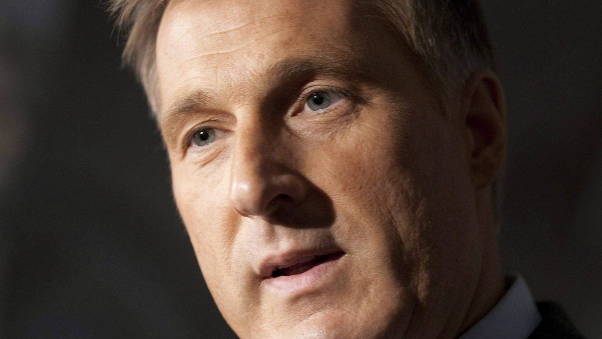 Conservative MP Maxime Bernier speaks with the media following Question Period in the House of Commons on Parliament Hill in Ottawa, October 7, 2010.
