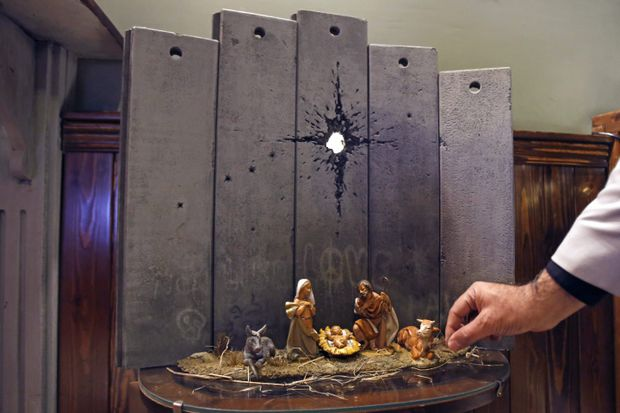 Banksy highlights conflict with his 'Scar of Bethlehem' nativity