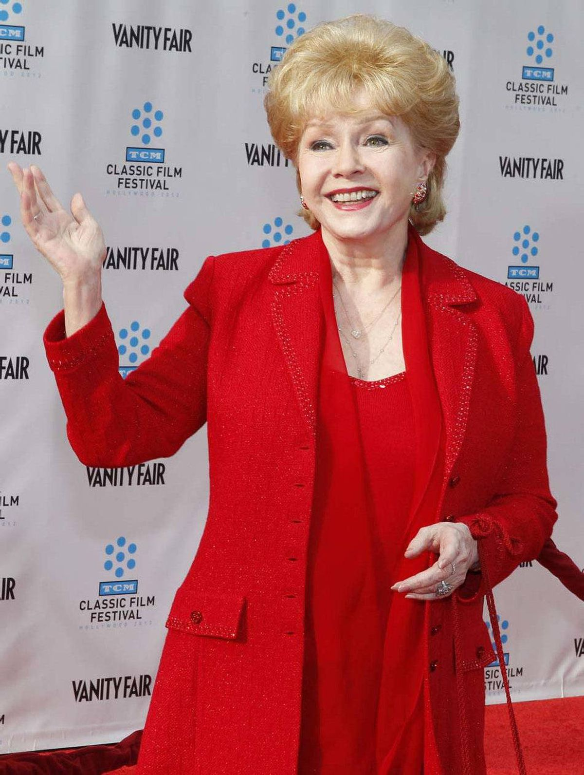 """No. 3: Debbie Reynolds at the world premiere of the 40th anniversary restoration of the film """"Cabaret"""" in Hollywood last week. [Answer: live]"""