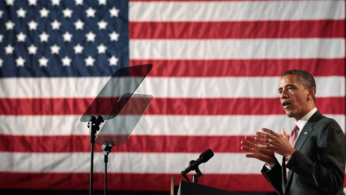 U.S. President Barack Obama addresses a crowd of students, teachers, business leaders and members of Congress before signing the America Invents Act at Thomas Jefferson High School for Science and Technology September 16, 2011 in Alexandria, Virginia.