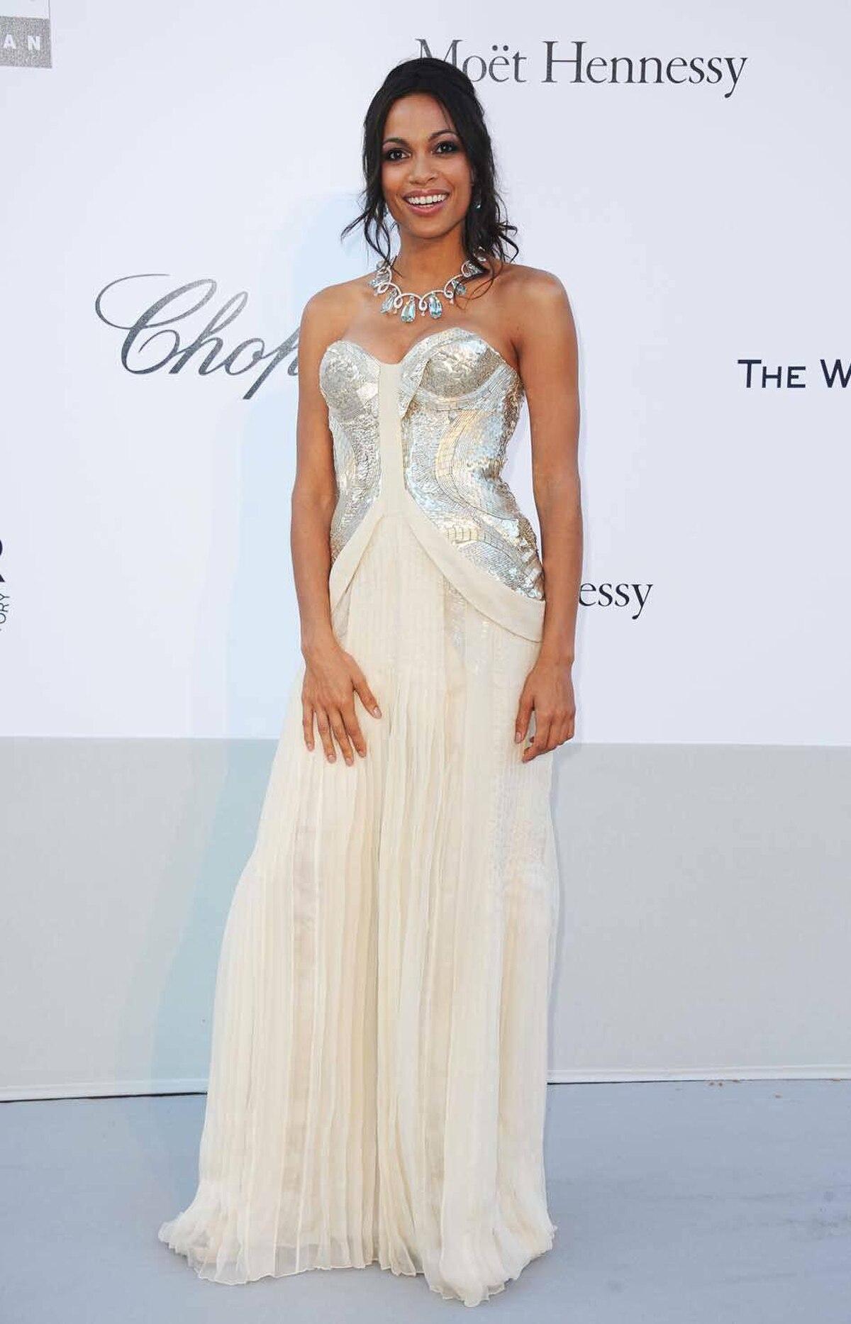 Rosario Dawson attends amfAR's Cinema Against AIDS Gala at the Cannes Film Festival on Thursday.