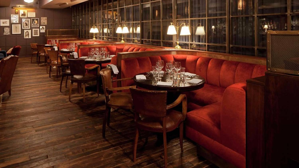 One of the dining rooms at the Soho House in New York