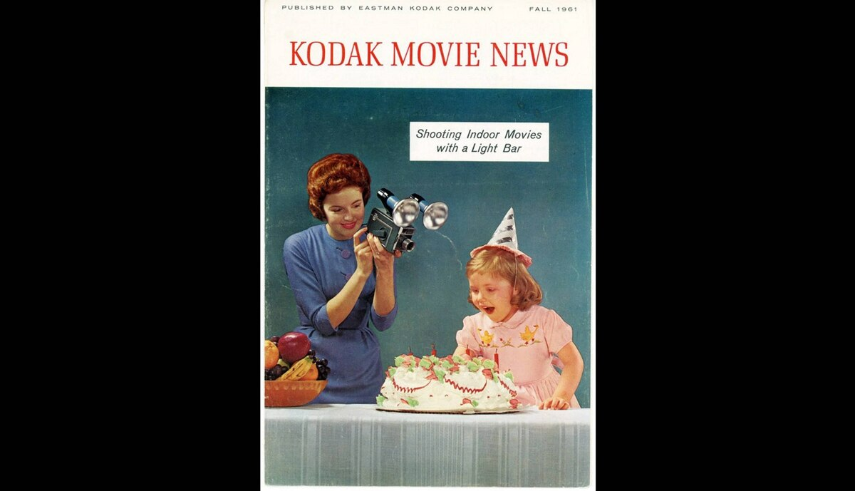 Cover of a Kodak Movie News magazine, published by Eastman Kodak from the Fall of 1961.
