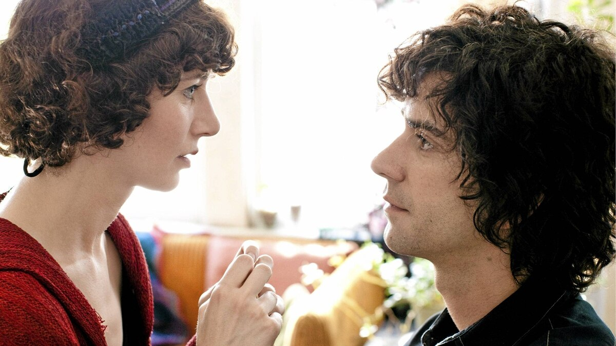 """In this image released by Roadside Attractions, Miranda July portrays Sophie, left, and Hamish Linklater portrays Jason in a scene from """"The Future."""""""