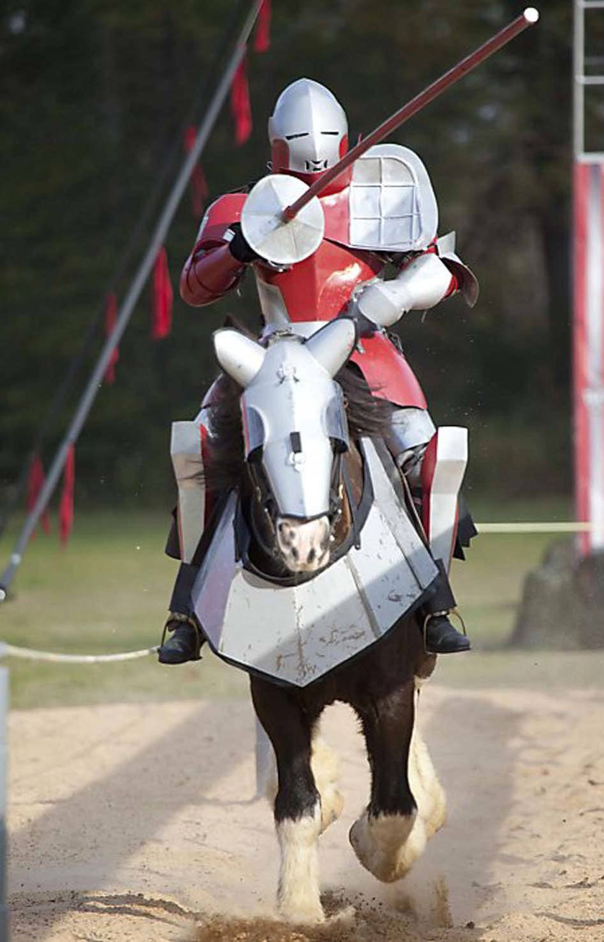 REALITY Full Metal Jousting History, 7 p.m. Who says the reality-TV well has run dry? Hailing from the U.S. History Channel, this new show reaches all the way back to medieval times to resurrect the lost art of jousting, which involves two people on horseback racing at breakneck speed toward each other while wielding lances (basically long sticks with padded ends). In this case, the format features two teams of eight competing in one-on-one jousts, with the last contestant standing receiving the $100,000 (U.S.) grand prize, which should be enough to cover the subsequent medical bills. Let the games begin!