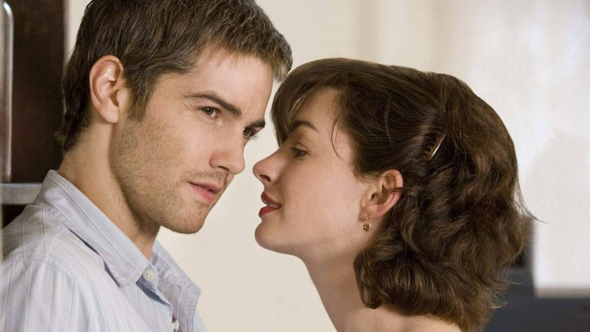 "Jim Sturgess and Anne Hathaway in a scene from ""One Day"""