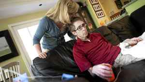 Cancer patient Darcy Doherty, along with his wife Rebecca Cumming, is photographed at his home in Toronto, Ont. Wednesday, May 30/2012. Doherty is pleading with a drug company for access to an experimental drug to treat the cancer that has returned to his brain.