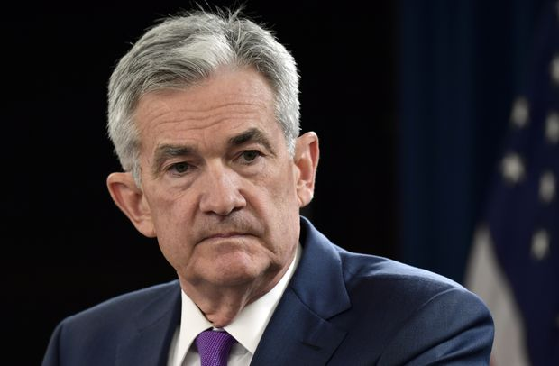 Powell `just below' comment seen as suggesting fewer rate hikes