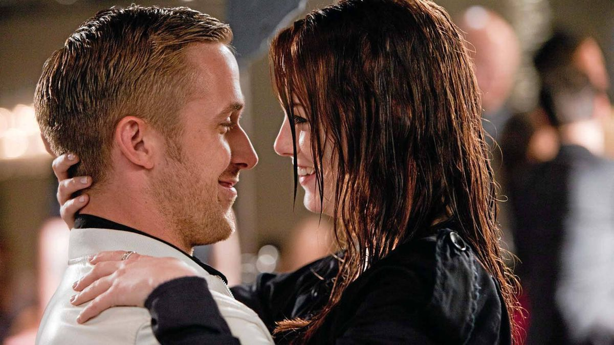 "Ryan Gosling and Emma Stone in a scene from ""Crazy, Stupid, Love."""