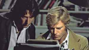 Robert Redford, right, and Dustin Hoffman as reporters Bob Woodward and Carl Bernstein in the 1976 film All the President's Men.