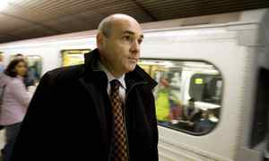 George Smitherman rides the TTC. Peter Power/The Globe and Mail