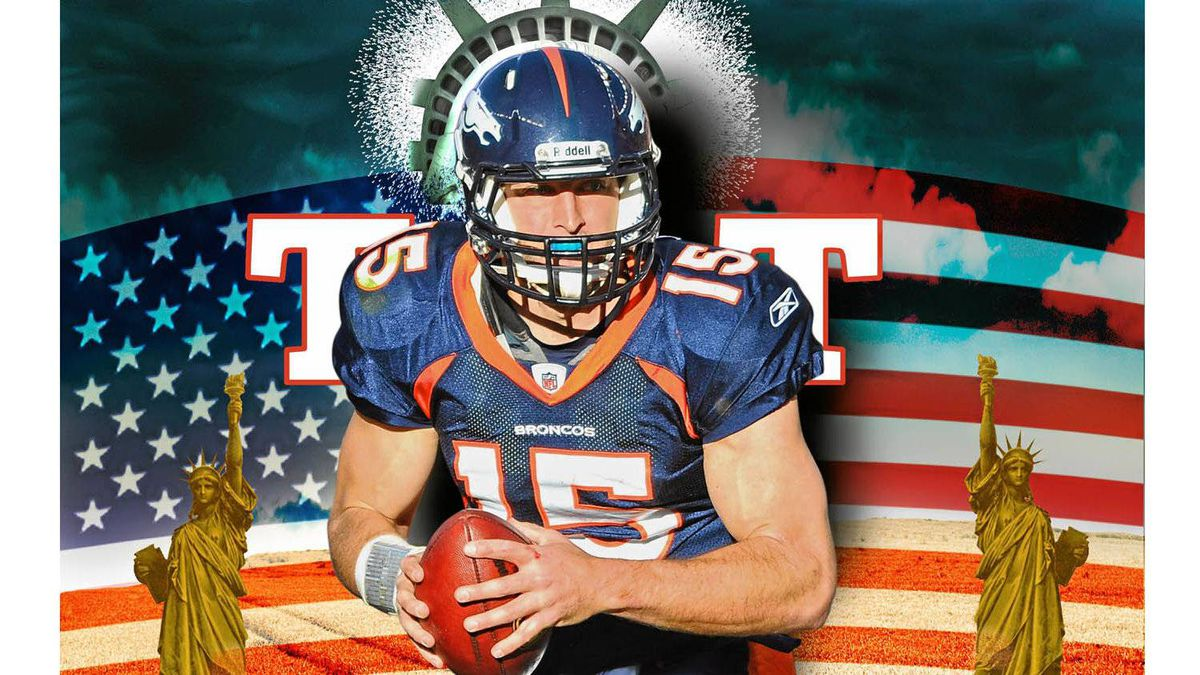Denver Broncos quarterback Tim Tebow. Photo illustration by David Woodside/The Globe and Mail