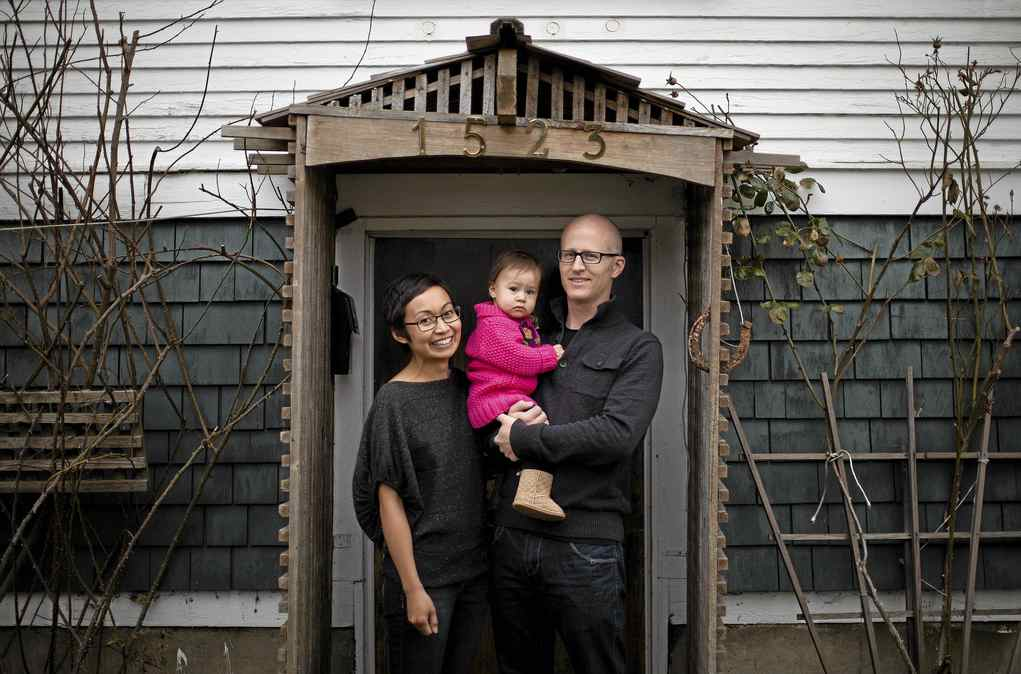New Westminster, B.C., residents Robin Glover and Bernadette Amiscaray, pictured with 14 month-old daughter Gwyneth, have opted to go the DIY route with their portfolio.