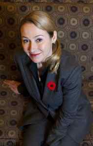 Belinda Stronach poses for a portrait following a Economic Club of Ottawa luncheon where she was honoured by Equal Voices an organization for women in politics at the Chateau Laurier in Ottawa on Tuesday, November 9, 2010. Pawel Dwulit for the Globe and Mail