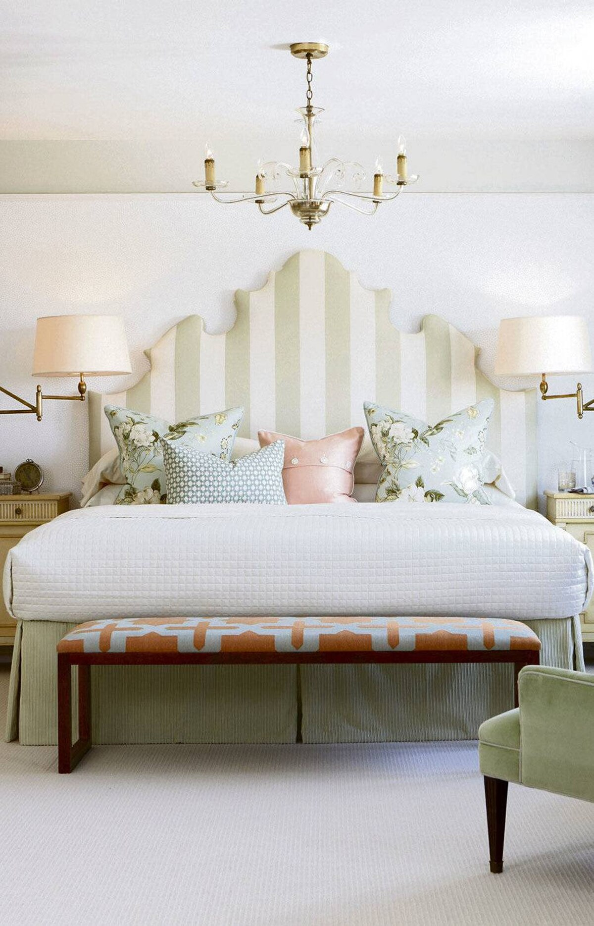 THE LOOK When faced with the challenge recently of bringing spirit and soul to a bland, oversized box of a bedroom, I relied on a light and airy garden palette to create a restful retreat and bring the glory of the coming spring indoors.