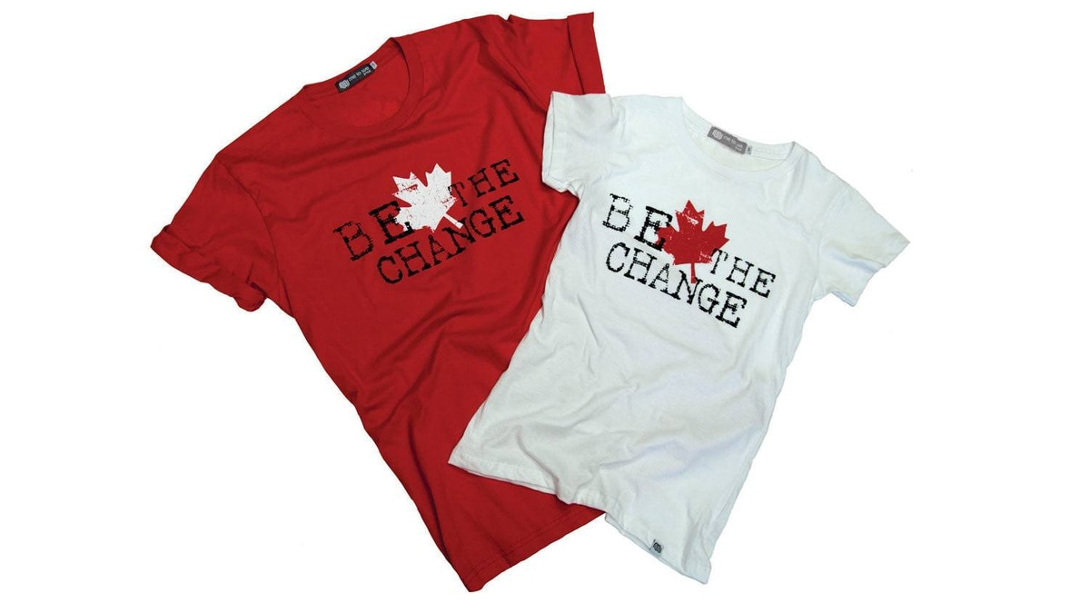 AND FREE Don the Maple Leaf for a great cause. The limited edition Be The Change Canada Tee by Me to We Style is made in Canada with certified organic cotton and bamboo fibres. Free The Children, the worldwide charity founded by social activist brothers Craig and Marc Kielburger, receives 50 per cent of the profits on all T-shirt sales. $34.50