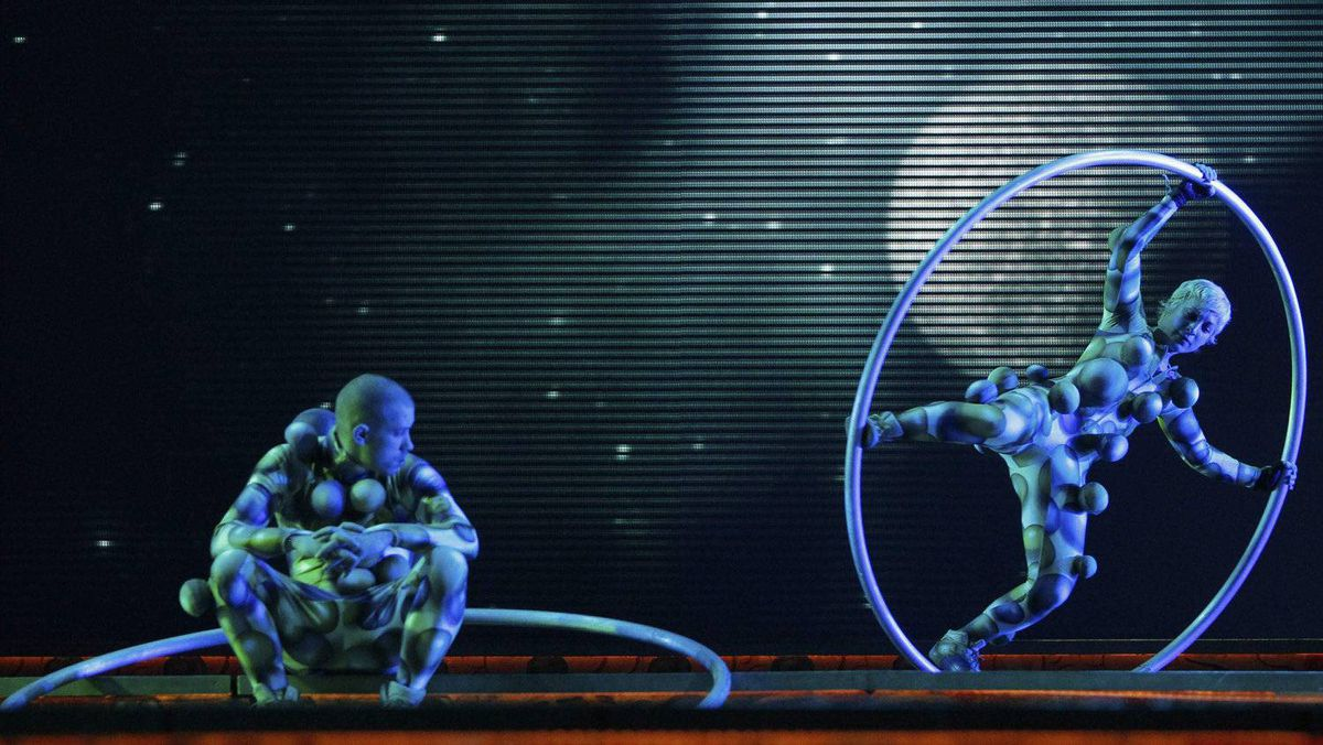 "Cirque Du Soleil's ""Zarkana"" show, performed in Moscow in January."