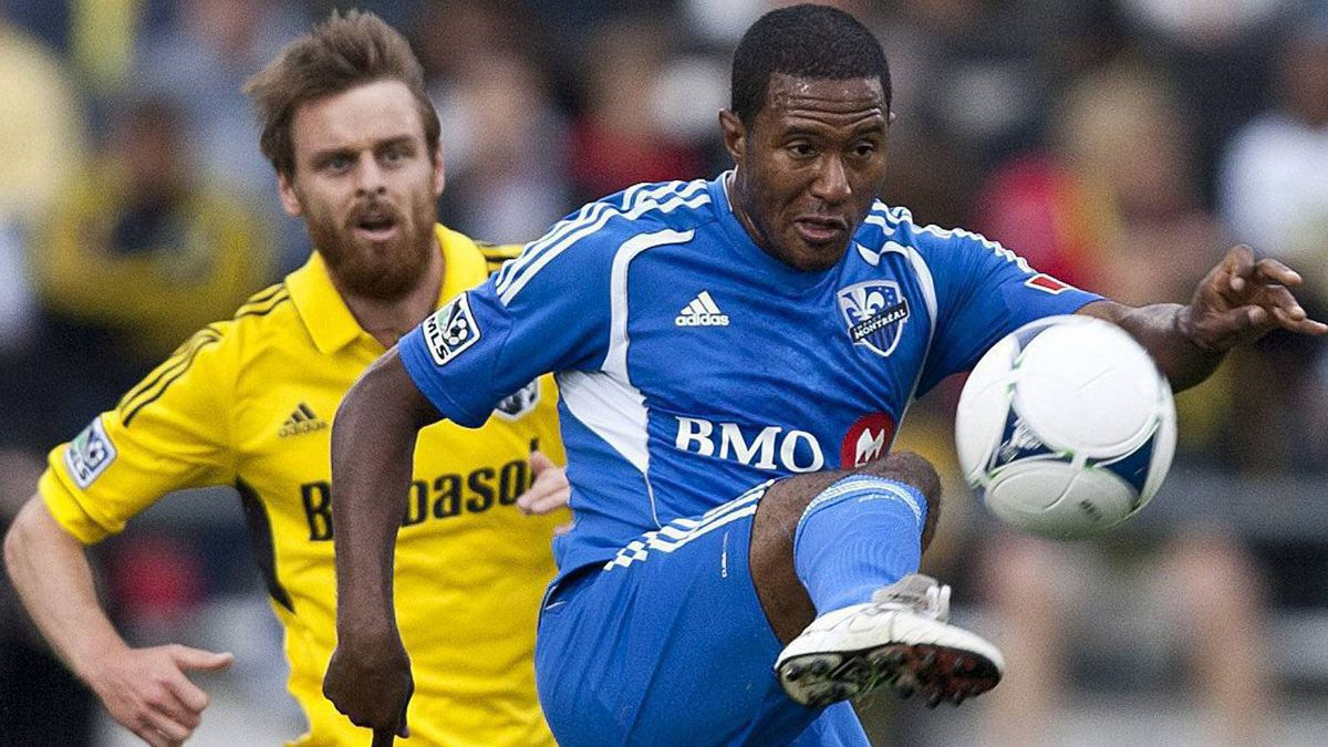 The Montreal Impact travel to Harrison, New Jersey to face the New York Red Bulls on Saturday. In this file photo Montreal Impact's Patrice Bernier (8) controls the ball against the Columbus CrewMontreal Impact's Patrice Bernier (8) controls the ball against the Columbus Crew during the first half of an MLS soccer game, Saturday, March 24, 2012, in Columbus, Ohio. (AP Photo/The Columbus Dispatch, Eamon Queeney)