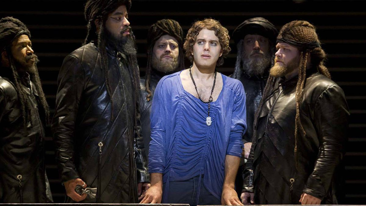 "Josh Young (centre) has been nominated for a best actor in a musical Tony Award for his portrayal of Judas in ""Jesus Christ Superstar."""