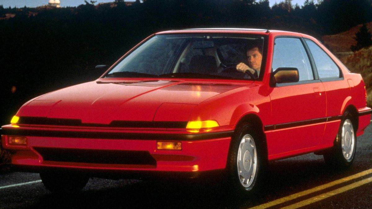 The 1986 Integra. The Integra brought formula One-inspired engineering to Canadian roads.
