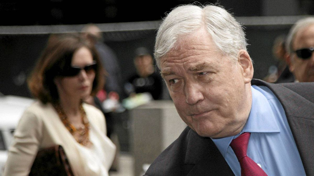 Conrad Black and his wife Barbara Amiel leave federal court in Chicago, June 24, 2011.