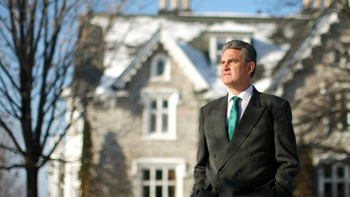 British High Commissioner to Canada Andrew Pocock takes in the view at Earnscliffe, his official residence in Ottawa, on Feb. 11, 2011.