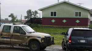 Members of a crime-troubled First Nation south of Edmonton are voting on whether to give community leaders the power to evict suspected gang members. A five-year-old boy was fatally shot in this house on the Samson Cree First Nation reserve Monday morning, July 11, 2011 near Hobbema, Alberta. The boy was the grandson of the Chief Marvin Yellowbird.