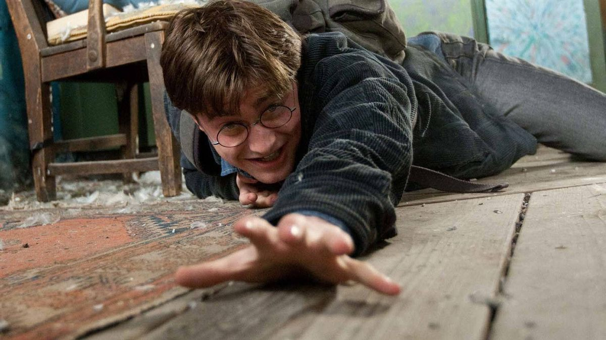 Daniel Dadcliffe as Harry Potter in a scene from blockbuster series' latest instalment