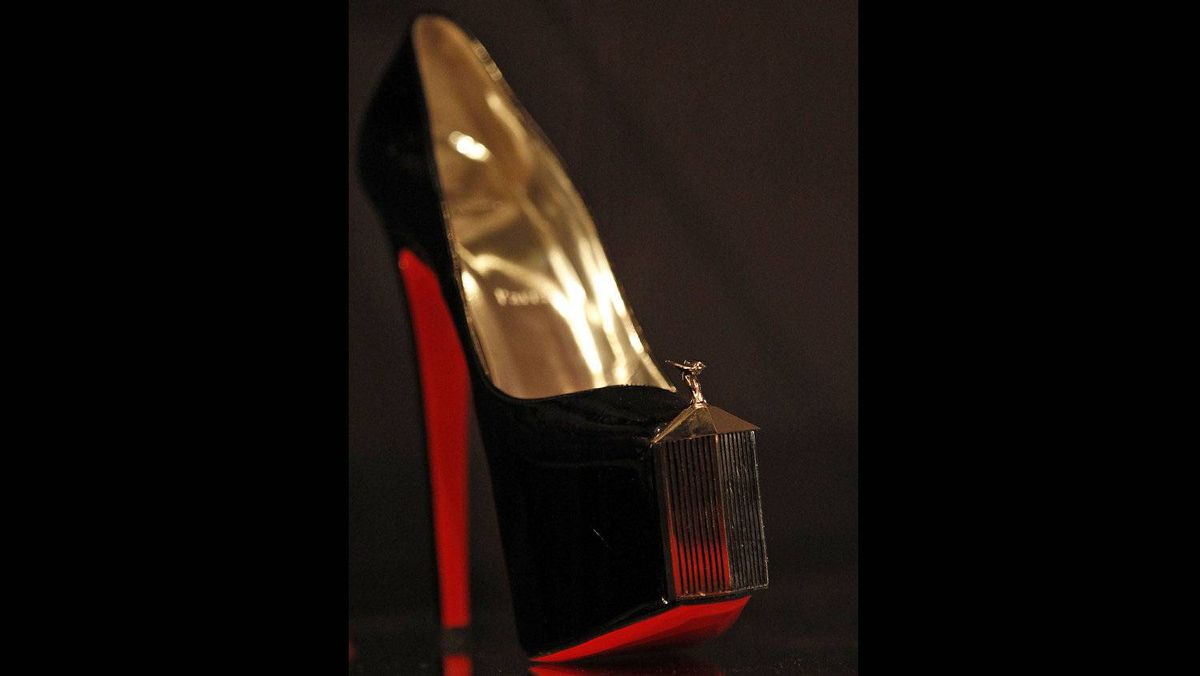 'I do not own a colour. I own a specific colour in a specific place,' he said of his distinctive soles.