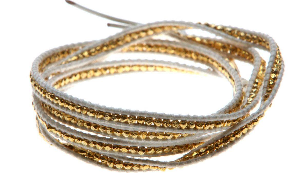 Chan Luu wrap bracelet, $265 at Augustina (www.augustinaboutiques.com).