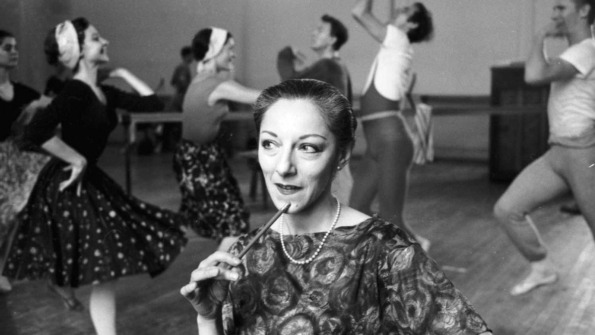 Celia Franca at a National Ballet of Canada rehearsal in 1964