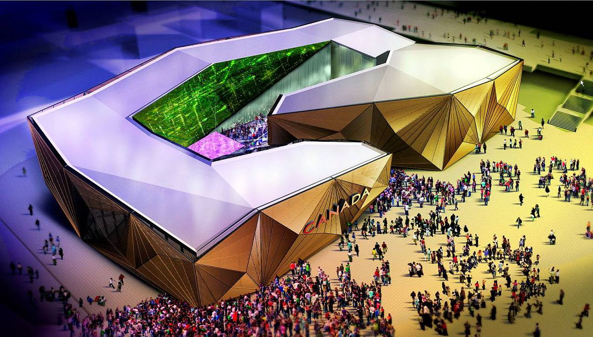 A drawing of Canada's World Expo pavilion which is currently under construction in Shanghai. Patrick Alleyn/SNC-Lavalin