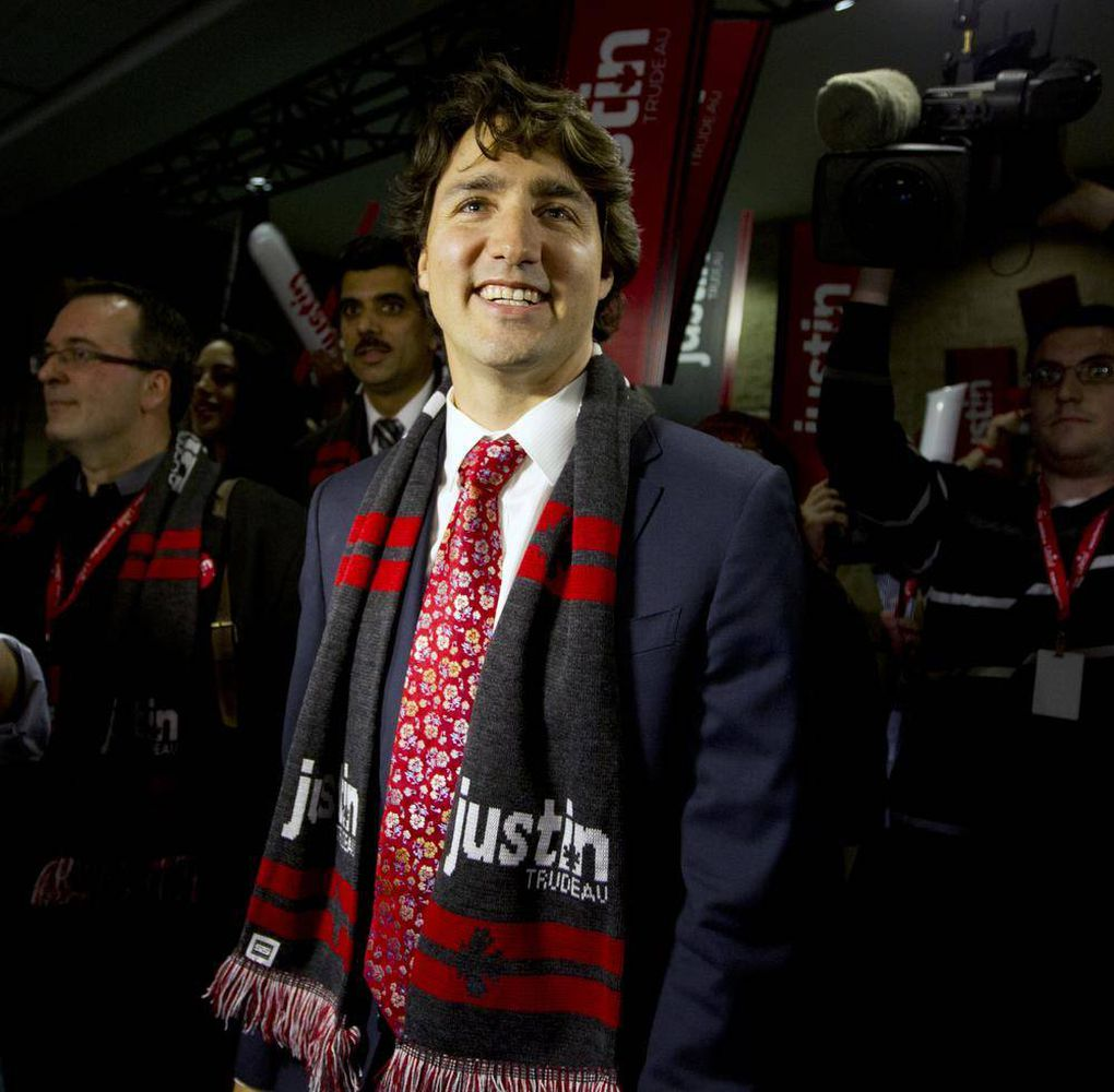 In photos: Justin Trudeau steals the show at Liberal leadership climax