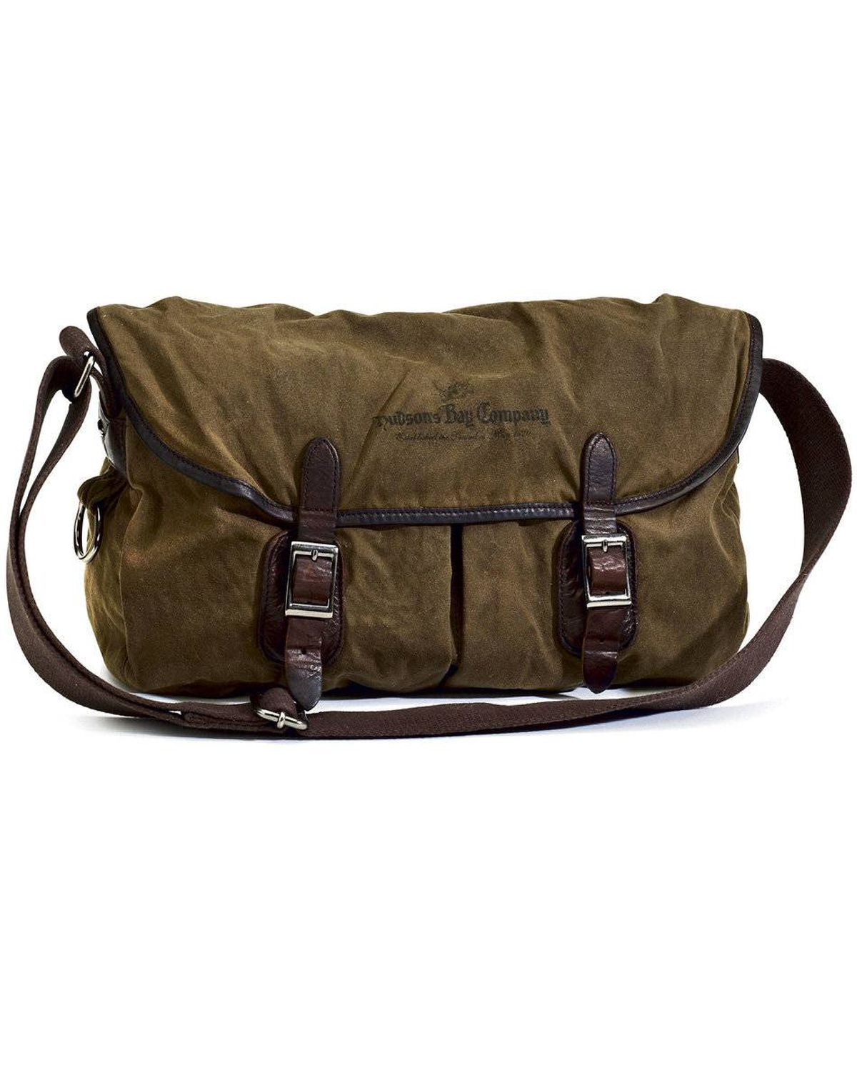 Yes, this rugged messenger-style bag is the from the Bay. No, it isn't festooned with multicoloured stripes. And yes, Dad will adore it. Hudson's Bay Company Collection Waxed Cotton Bagpack, $175 at the Bay.